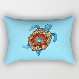 Turtley Awesome Mosaic Turtle Rectangular Pillow