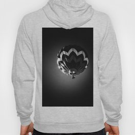 Up a black and white photograph of a hot air balloon Hoody