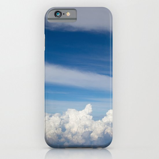 My bed of white and blue iPhone & iPod Case