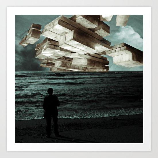 Autumn Tryst or, The Architect's Daydream Art Print