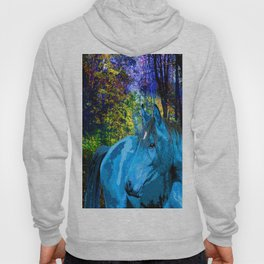 FANTASY HORSE BLUE I MET IN THE FOREST Hoody