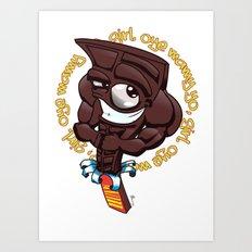 Brown Hunk Chocolate  Art Print