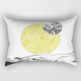Tomo - spilled ink abstract space sun moon earth swirl marble painting dorm college trendy art Rectangular Pillow