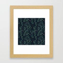 Stars though the ferns Framed Art Print