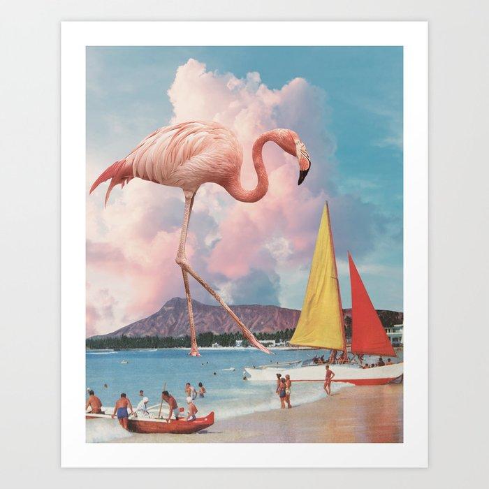 Flamingo Playground Art Print