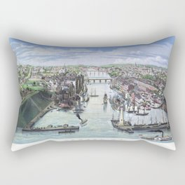 OSWEGO NEW YORK city old map Father Day art print poster Rectangular Pillow