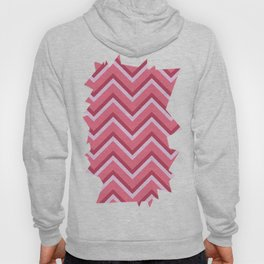 Pink Zig Zag Pattern Hoody