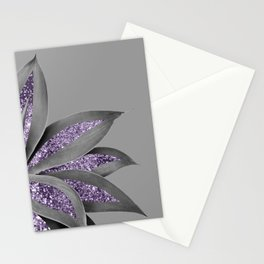 Agave Finesse Glitter Glam #4 #tropical #decor #art #society6 Stationery Cards