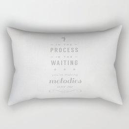 Stop Wait Sit - Shepherd Rectangular Pillow