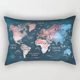 world map 45 Rectangular Pillow