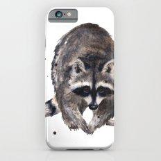 RACOON painting, wilderness nursery art, woodland animal art, racoon watercolor, cute racoon print iPhone 6s Slim Case