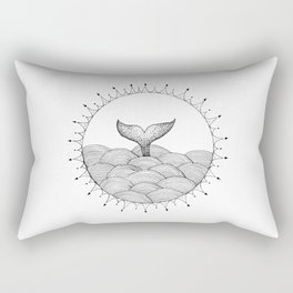 Whale in Waves Rectangular Pillow