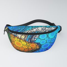 Ocean jellyfish photo bubble art | Go with the flow Fanny Pack