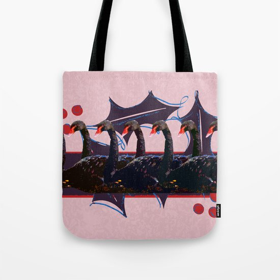 7 Swans-a-Swimming - 12 Days of Christmas Series Tote Bag