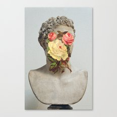 Bust With Flowers Canvas Print