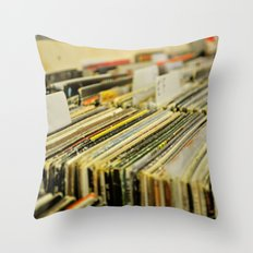Come Put Your Records On Throw Pillow