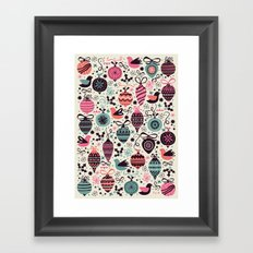 Birds and Baubles  Framed Art Print