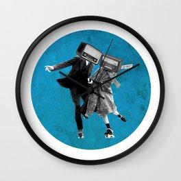 Radio rolling skaters Wall Clock