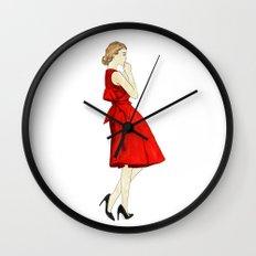 red dress Wall Clock