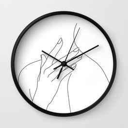 Female body line drawing - Danna Wall Clock