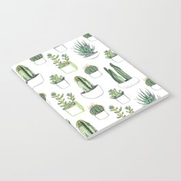 watercolour cacti and succulent Notebook