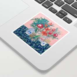 The Domesticated Jungle - Floral Still Life Sticker