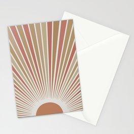 Abstract sun rays design wall art print boho art  Stationery Cards
