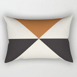 Split X Rust Rectangular Pillow