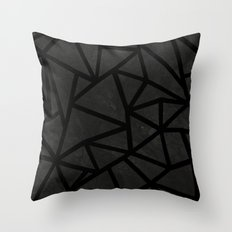 Ab Marble Zoom Black Throw Pillow