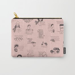 Gilmore Girls Quotes in Pink Carry-All Pouch