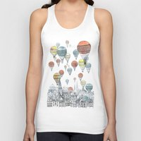 cities Tank Tops featuring Voyages over Edinburgh by David Fleck