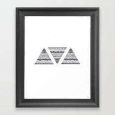 Triáng Framed Art Print