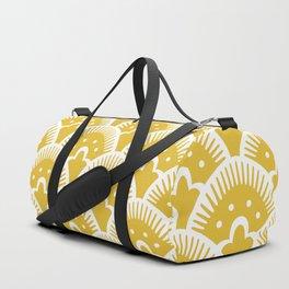 Fan Pattern Mustard Yellow 201 Duffle Bag