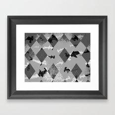 Argyle Frenzy in Highlight Framed Art Print