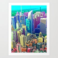 Rainbow City Art Print