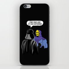 Vader Skeletor I Find your lack of face disturbing  iPhone & iPod Skin