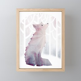 Fox in the Snow Framed Mini Art Print