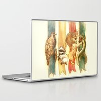 lion Laptop & iPad Skins featuring House Brawl by Alice X. Zhang