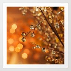 Sparkles in Gold Art Print