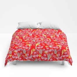 Tulips in red Comforters