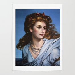 Miranda - reproduction painting by Frank Dicksee Poster
