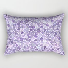Lilac Cobbled Patchwork Terrazo Pattern Rectangular Pillow
