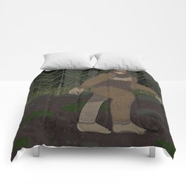 Bigfoot in the Forest Comforters