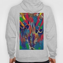 9978s-KD Abstract Yoni Pop Color Erotica Explicit Psychedelic Self Love Hoody