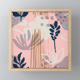 Abstract Leaves and Flowers II Framed Mini Art Print