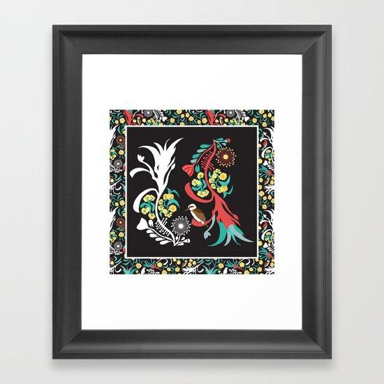 Kookaburra Camouflage Framed Art Print
