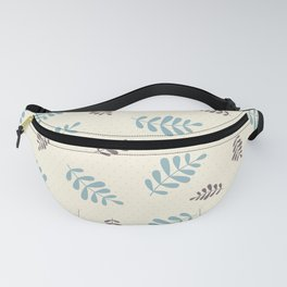 Falling Leaves – Blue & Brown Fanny Pack