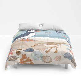 Coastal Birds By The Sea Comforters