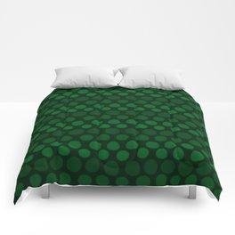Emerald Green Subtle Gradient Dots Comforters