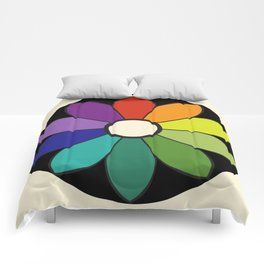 James Ward's Chromatic Circle (interpretation) Comforters